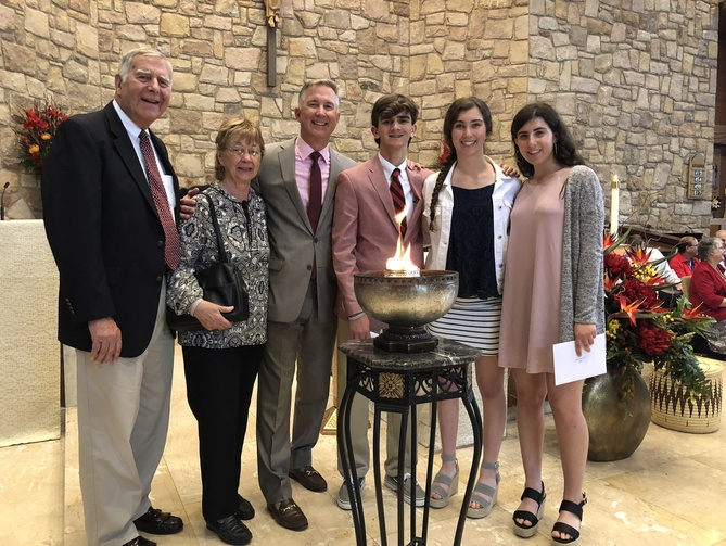 Three generations of the Kavulich Family celebrates Confirmation on Pentecost Sunday.